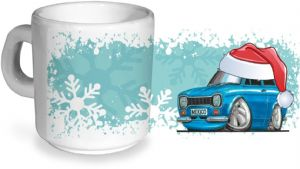 Koolart Christmas Santa Hat Design For MK1 Escort RS Mexico - Ceramic Tea Or Coffee Mug